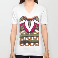 mexico V-neck T-shirts featuring mexico by NAME THEGREY