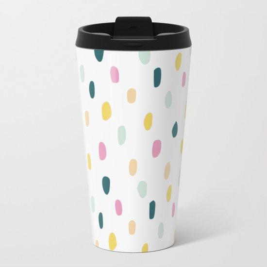 Colorful rain dot Metal Travel Mug