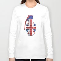 british flag Long Sleeve T-shirts featuring British grenade by GrandeDuc