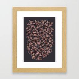 No movin, just growin Framed Art Print