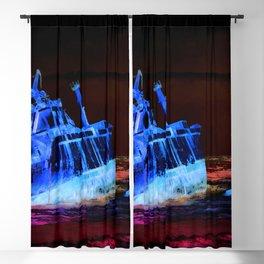 shipwreck aqrestdi Blackout Curtain
