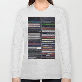 Old School Hip Hop CD Collection Long Sleeve T-shirt