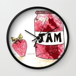 Strawberry VS Jam Wall Clock