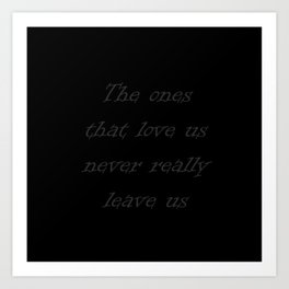 Harry Potter Quote Art Print