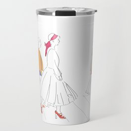 Parisian French Fashion Girls Travel Mug