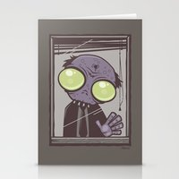 the office Stationery Cards featuring Office Zombie by John Schwegel