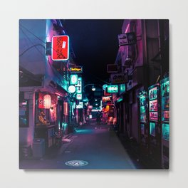 Late Night in Shinjuku's Golden Gai Metal Print
