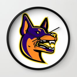 Australian Kelpie Dog Mascot Wall Clock