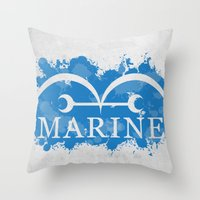 marine Throw Pillows featuring Marine by rKrovs