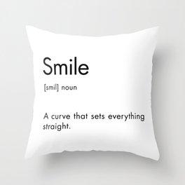 Smile Definition Throw Pillow