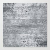 concrete Canvas Prints featuring Concrete by Grace