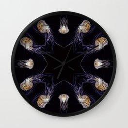Kaleidoscope Jellyfish 01 Wall Clock