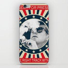 Cigar Smoker Cigar Lover Vote JFK Gifts Black And White Photo iPhone Skin