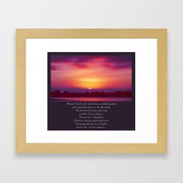 Beyond Land's Reach Framed Art Print