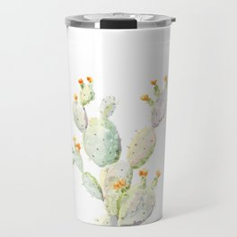 Prickly pear cactus. Opuntia Travel Mug