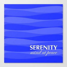 Blue for Serenity Canvas Print