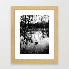 meet me by the lake Framed Art Print