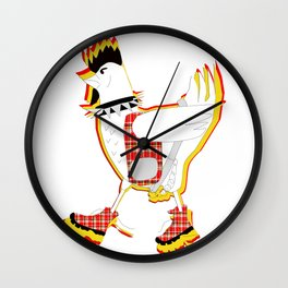 Do the Punky Chicken Wall Clock