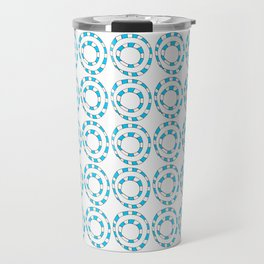 Circle and abstraction 8- blue abstract,geometric,geometrical,circle,sphere Travel Mug