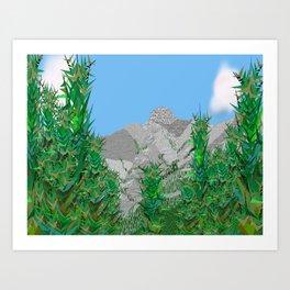 Mount Charles Stuart Art Print