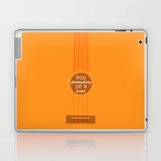 Stop pretending art is hard (orange) Laptop & iPad Skin