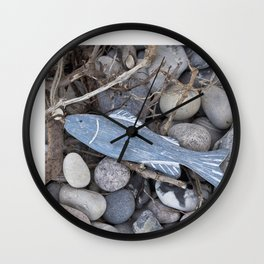 Little Fish At The Beach Wall Clock