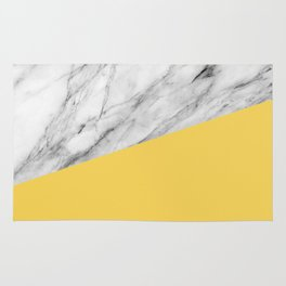 Marble and Primrose Yellow Color Rug