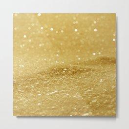 Glitter Gold Metal Print