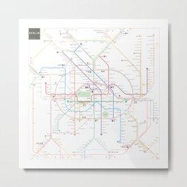 Germany Berlin Metro Bus U-bahn S-bahn map Metal Print