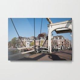 Blue Sky White Bridge Amsterdam Metal Print