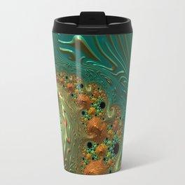 Cool Creamsicle - Fractal Art Travel Mug