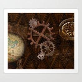 Comforts of Steampunk Art Print