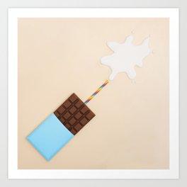 Milk Chocolate Art Print