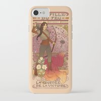 la iPhone & iPod Cases featuring La fille du feu by Megan Lara