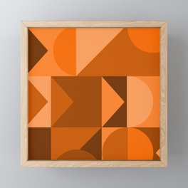 Desert Vibes Geometric Shapes in Terracotta and Burnt Orange Framed Mini Art Print