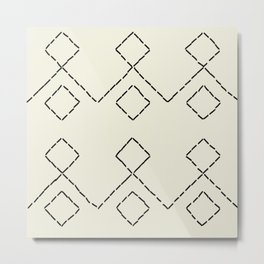 Embroided pattern Metal Print