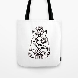 Your friendly neighbor and No face Tote Bag