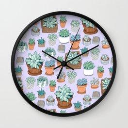Succulent Love Wall Clock