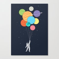 Planet Balloons Canvas Print