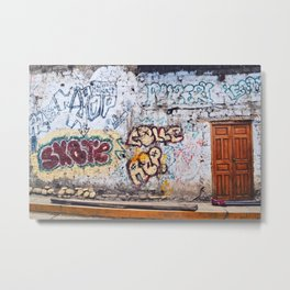 Old City Graffiti Metal Print
