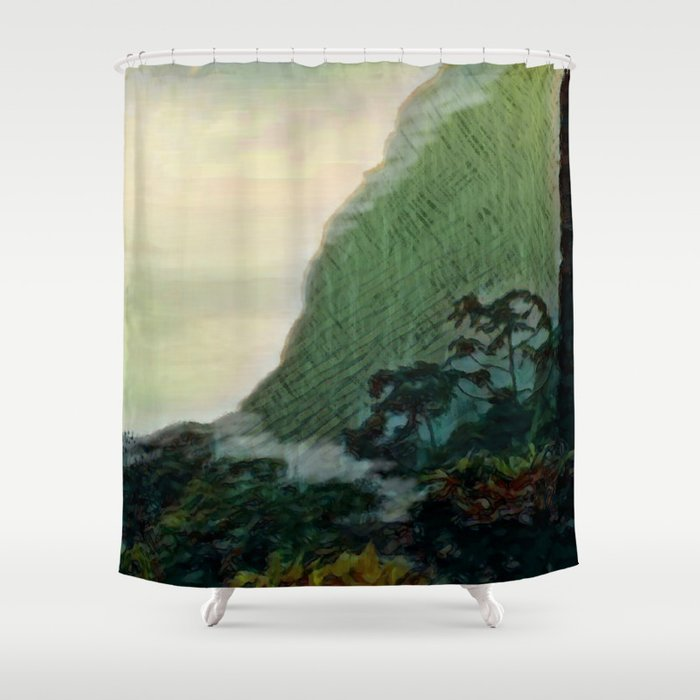 Mists In The Pitons St Lucia Shower Curtain By Jeffreyjirwin