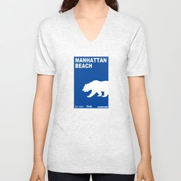 Manhattan Beach.  Unisex V-Neck