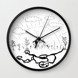 Unabashed Romanticism Wall Clock