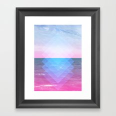 Sea Diamonds Framed Art Print