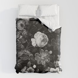 Black and White Garden Comforters
