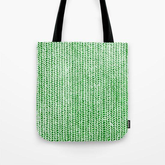 Stockinette Green Tote Bag