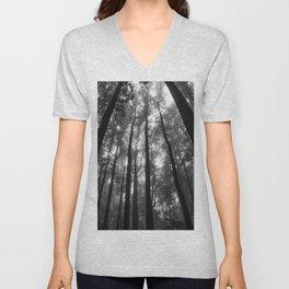 Smoky Mountain National Park Foggy Trees Unisex V-Neck