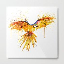 Flying Parrot watercolor Metal Print