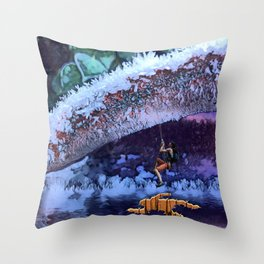 Escaping the Freeze. Throw Pillow