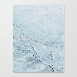 Light Blue Marble Canvas Print